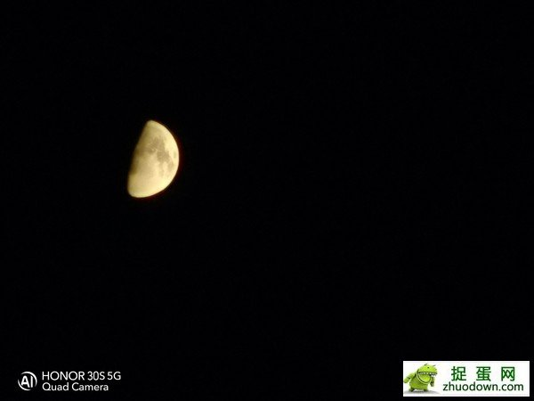 荣耀30S拍月亮(20倍变焦+自动场景识别)
